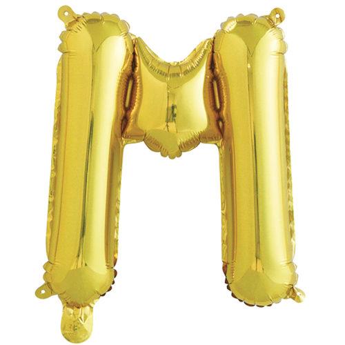 Шар 41 см Буква М Золото