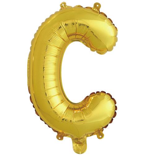 Шар 41 см Буква С Золото