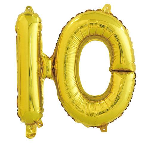 Шар 41 см Буква Ю Золото