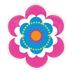 Шар 63 см Фигура Цветок весенний розово-голубой