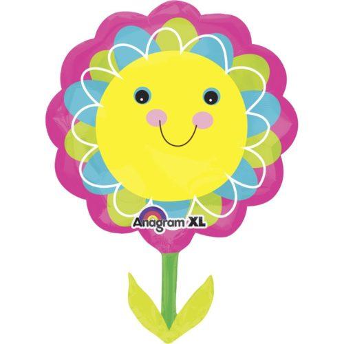 Шар 73 см Фигура Цветок улыбающийся желтый