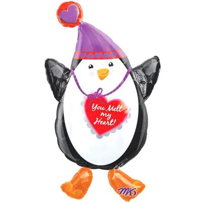 Шар 78 см Фигура Пингвин с сердцем