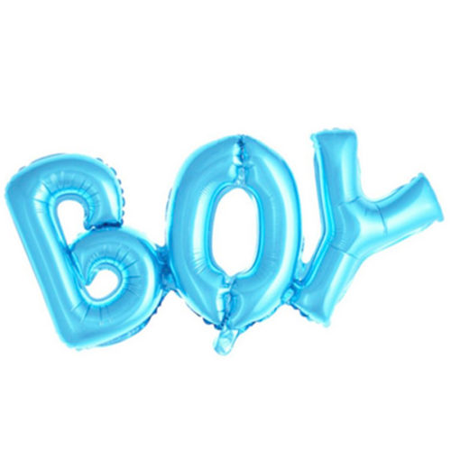 Шар 84 см Фигура Надпись Boy Голубой