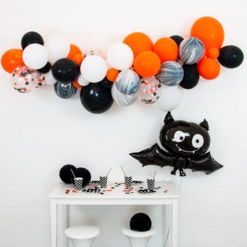 Гирлянда из разных шариков Хеллоуин с летучей мышкой 2 метра
