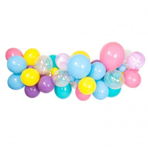 Гирлянда из разных шариков цвет Ассорти Пастель и Мрамор 2 метра