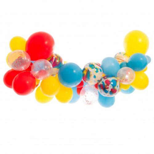 Гирлянда из разных шариков цвет Ассорти и Мрамор 2 метра