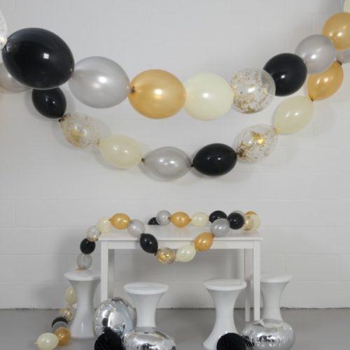 Комплект гирлянд из шаров с воздухом Блеск 3 размера по 3 метра