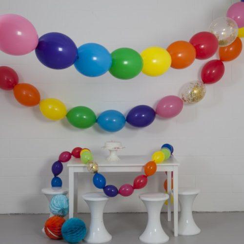 Комплект гирлянд из шаров с воздухом Радуга 3 размера по 3 метра