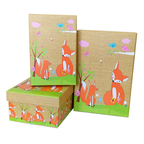 Коробка 23 х 16 х 9,5 Детский Лисята прямоугольник