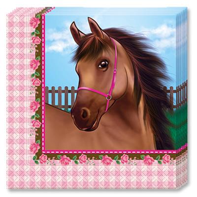 Салфетки 33 х 33 см Лошадки 20 штук