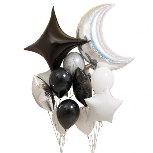 Связка из воздушных шаров Космос