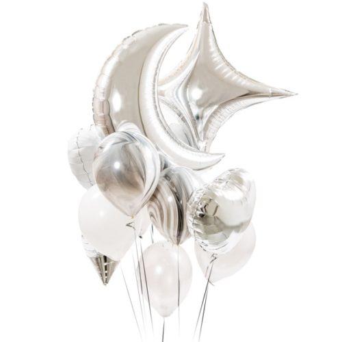 Связка из воздушных шаров Северное сияние