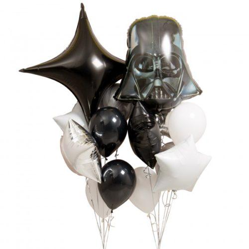 Связка из шаров Темная Сторона со шлемом Вейдера