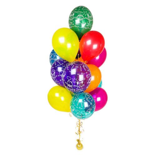 Фонтан из 15 шаров Микс детишками