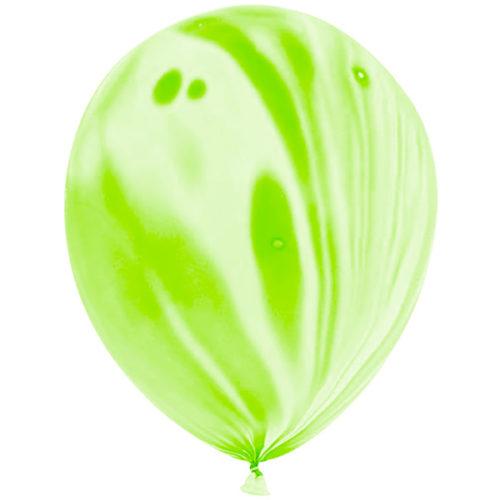 Шар 30 см Зеленый Агат Пастель