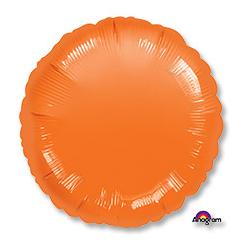 Шар 46 см Круг Пастель Оранжевый