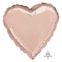 Шар 46 см Сердце Металлик Розовое золото