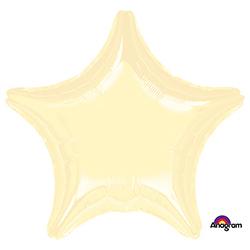 Шар 81 см Звезда Металлик Кремовая