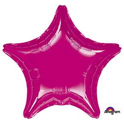 Шар 81 см Звезда Металлик Фуксия