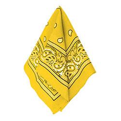 Бандана с рисунком желтая 50 х 50 см