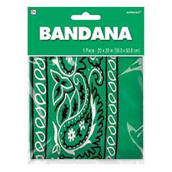 Бандана с рисунком зеленая 50 х 50 см