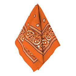 Бандана с рисунком оранжевая 50 х 50 см