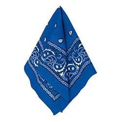 Бандана с рисунком синяя 50 х 50 см