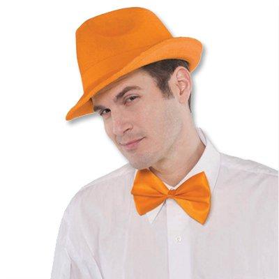 Галстук-бабочка оранжевый
