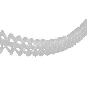 Гирлянда бумажная декор Белая 3,6 м