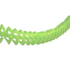 Гирлянда бумажная декор светло-зеленая 3,6 м