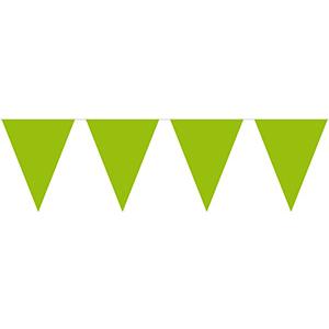 Гирлянда-вымпел светло-зеленая 10 м