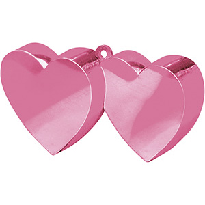 Грузик для шара Два Сердца розовый 170 гр