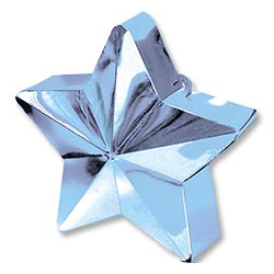 Грузик для шара Звезда светло-голубая 170 гр