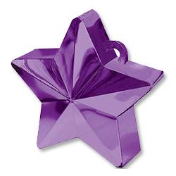 Грузик для шара Звезда фиолетовая 170 гр