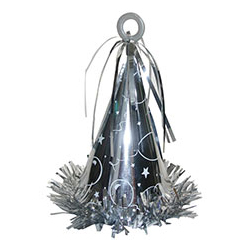 Грузик для шара Колпак серебряный 170 гр