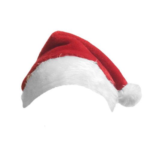 Карнавальный Колпак Деда Мороза меховой