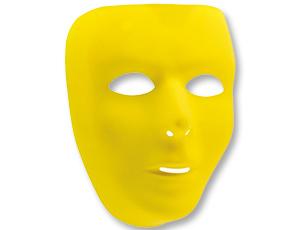 Маска пластик желтая