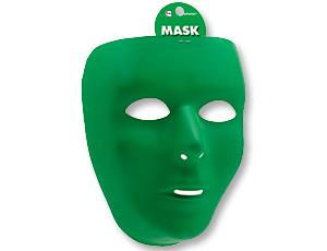 Маска пластик зеленая