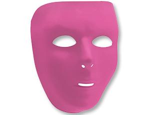 Маска пластик розовая
