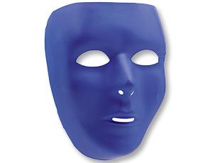 Маска пластик синяя