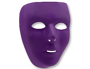 Маска пластик фиолетовая