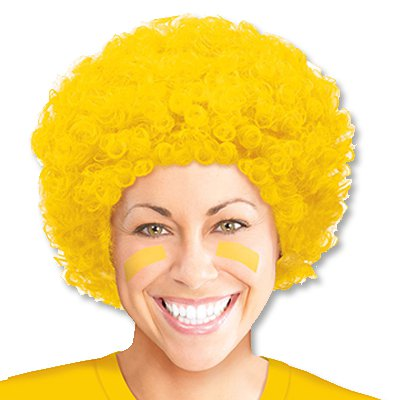 Парик кудрявый желтый