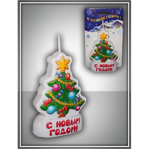 Свеча-барельеф Ёлочка 8 см