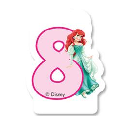 Свеча-цифра 8 Принцессы 6 см