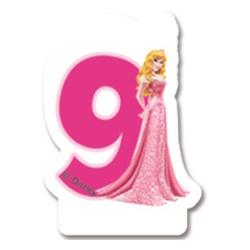 Свеча-цифра 9 Принцессы 7 см