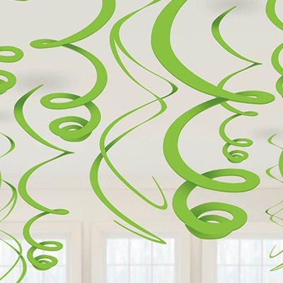 Спираль 46 - 60 Салатовые Kiwi 12 штук