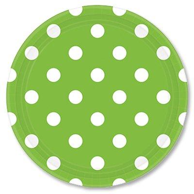 Тарелки 23 см Зеленые Киви Горошек 8 штук