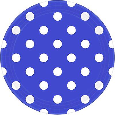 Тарелки Royal Blue Горошек 23 см