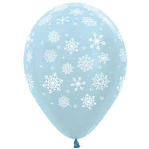 Шар 30 см Снежинки 3 дизайна Ассорти Перламутр