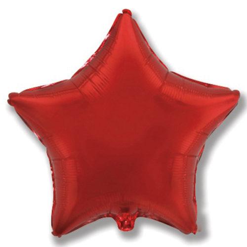 Шар 46 см Звезда Бургундия